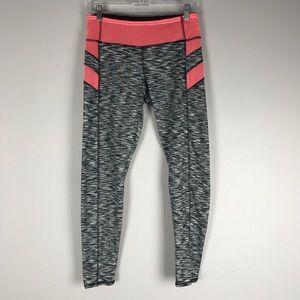 Ashley active space dye print leggings coral black